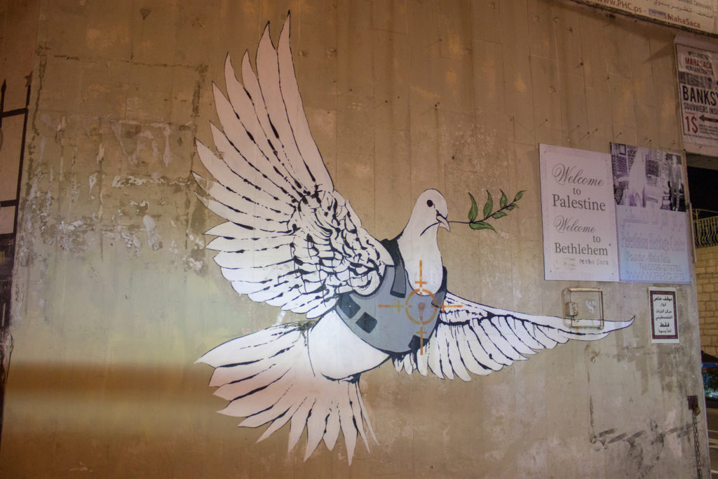 Armoured Dove by Banksy in Bethlehem