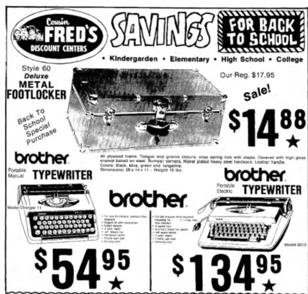 brother charger newspaper writing ad