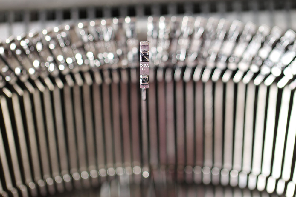 typewriter key closeup