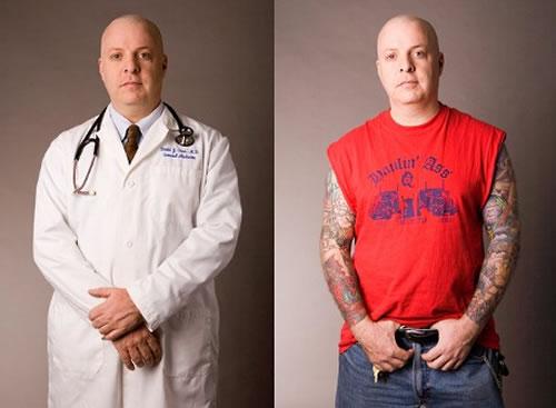 Doctor tattooed